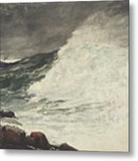 Prouts Neck Breaking Wave Metal Print