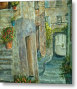 Provence Alley Metal Print