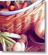 Provence Kitchen Shallots Metal Print