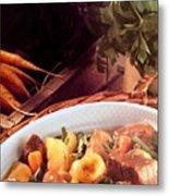 Provence Kitchen Stew Metal Print