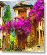Provence Street Metal Print