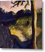 Provence Tree Metal Print