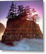 Proverbs102 Metal Print