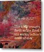 Proverbs105 Metal Print