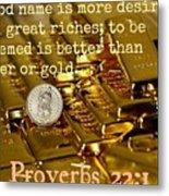 Proverbs117 Metal Print