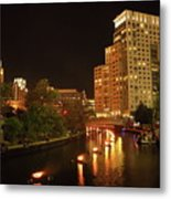 Providence Waterfire Metal Print