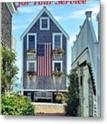Provincetown Patriot By Sharon Eng Metal Print