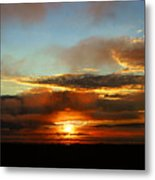 Prudhoe Bay Sunset Metal Print