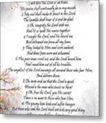 Psalm 34 Pg 2 Metal Print