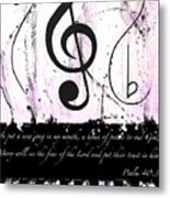 Psalm 40/3 Purple Metal Print