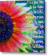 Psalms 92 1 2 Metal Print