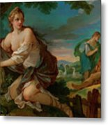 Psyche Gathering The Fleece Of The Rams Of The Sun Metal Print