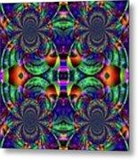 Psychedelic Abstract Kaleidoscope Metal Print