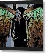 Psychedelic Angel Metal Print