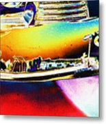 Psychedelic Chevy Bumper Metal Print