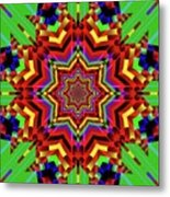Psychedelic Construct Metal Print