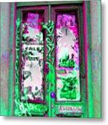 Psychedelic Door Metal Print