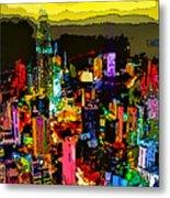 Psychedelic  Dubai Art Metal Print