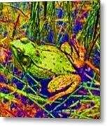Psychedelic Frog  Metal Print