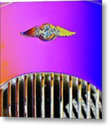Psychedelic Morgan 4/4 Badge And Radiator Metal Print