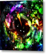 Psychedelic Rainbow Elephant Constellations Metal Print by Abram Lopez