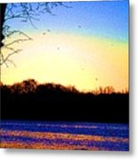 Psychedelic Sunrise On The Delaware River Metal Print