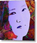 Psychedelic Woman Metal Print