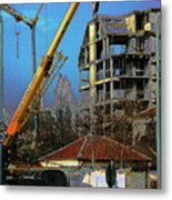 Psycho Plovdiv Crane Metal Print