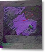 Psycho Warhol Deep Purple Metal Print