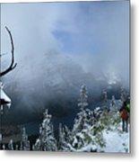 Ptarmigan Trail Overlooking Elizabeth Lake 2 - Glacier National Park Metal Print