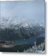 Ptarmigan Trail Overlooking Elizabeth Lake 3 - Glacier National Park Metal Print