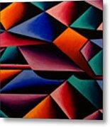 Pterodactyl Cubed Metal Print