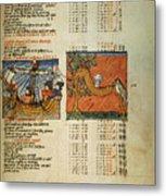 Ptolemy: Almagest, 1490 Metal Print