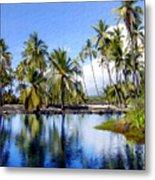 Pu Uhonua O Honaunau Pond Metal Print