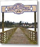Public Fishing Pier Metal Print