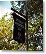 Public Garden 1837 Boston Metal Print