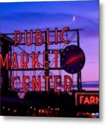 Public Market Center - Seattle Metal Print