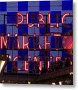 Public Market Checkerboard Metal Print