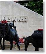 Public Memorial Honoring Military Animals In War London England Metal Print