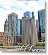 Public Park In The Heart Of Toronto Metal Print