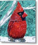 Pudgy Cardinal Metal Print