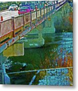 Pueblo Downtown--4th Street Bridge Metal Print