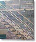 Pueblo Downtown Fire Escape Metal Print