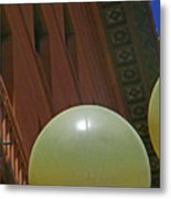 Pueblo Downtown--thatcher Building With Lamps 2 Metal Print