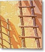 Pueblo Ladders Metal Print
