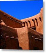 Pueblo Revival Style Architecture In Santa Fe Metal Print