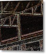 Pueblo-steel City--manufacturing Blueprint Metal Print