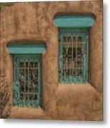 Pueblo Windows Nm Square Img_8336 Metal Print