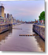 Puerto Madero Canal Metal Print
