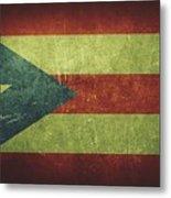 Puerto Rico Distressed Flag Dehner Metal Print